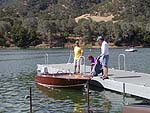 at the dock at Lake Del Valle
