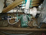 Pump, electric valve, and isolation valves