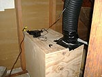 Plywood box with vent tube