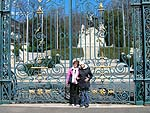 Martha and Vanessa at Park of the Poets in Beziers