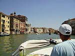 Water taxi into Venice