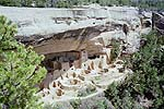 Cliff Palace Ruins from mesa rim, Mesa Verde